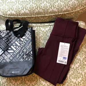 "NWT lululemon 23"" All THe Right Places Crop size 6"